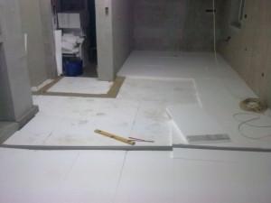 Pokládka podlahového polystyrenu