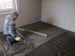 Betonování podlahy