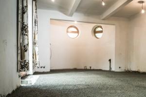 Konečná podoba podlahy z lehkého betonu.