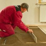 Rekonstrukce, vyrovnání podlahy bez vysychání a prasklin